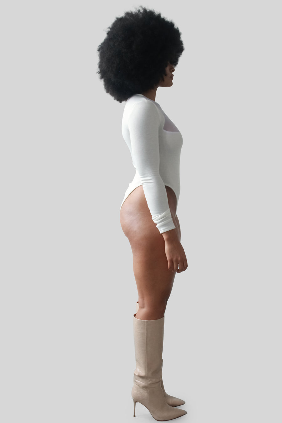The Nya Bodysuit in White