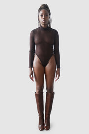 The Reese Bodysuit in Chocolate