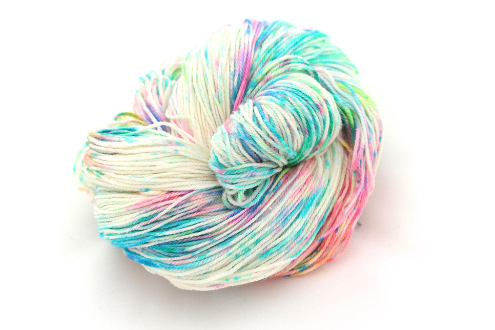 Energy in Neon Speckled Merino Sock yarn