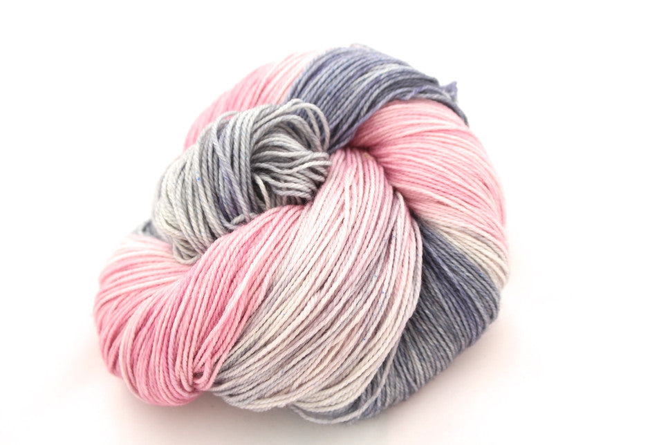ballet warn up Hand-dyed Merino sock yarn