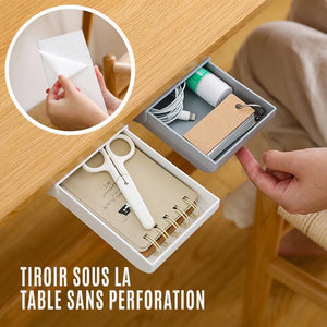 Tiroir sous la Table sans Perforation