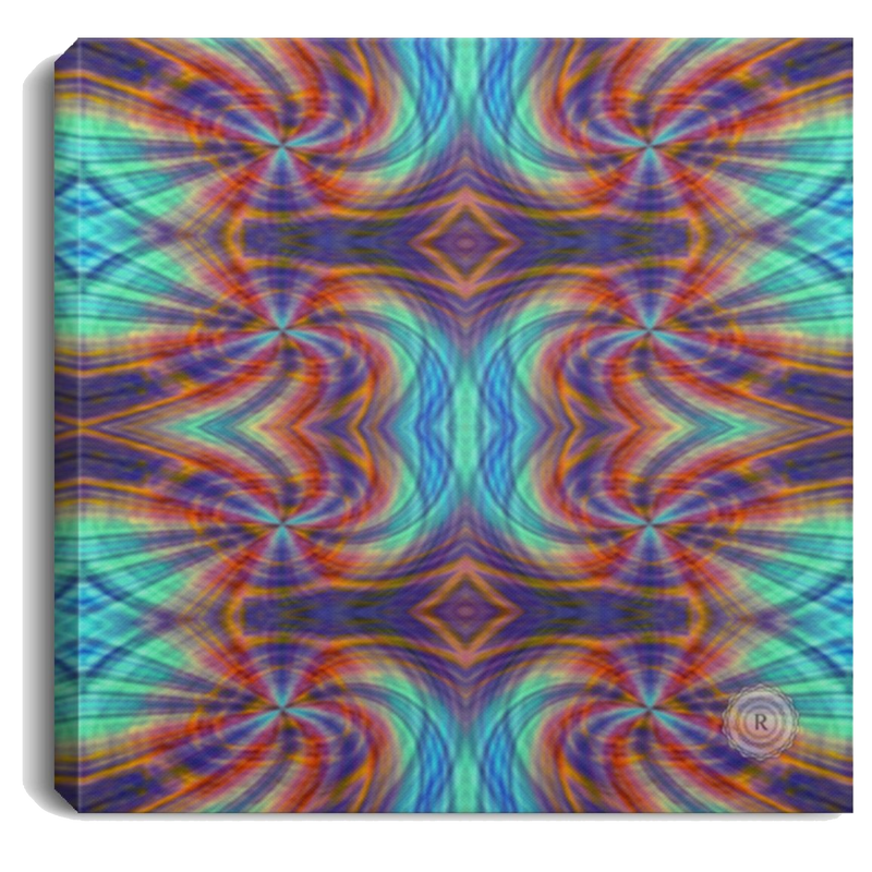 Product name: Recursia® Tie-Dye Overdrive Series V Square Canvas Print .75in Frame. Keywords: Canvas Prints, Home Decor, Square Canvas Print .75in Frame, Tie-Dye Overdrive