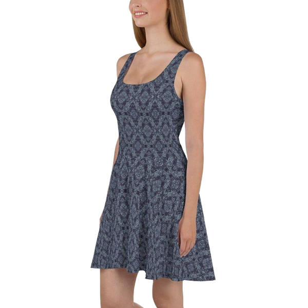 Product name: Recursia® Pebblewave Series Skater Dress. Keywords: Clothing, Pebblewave , Skater Dress, Women's Clothing