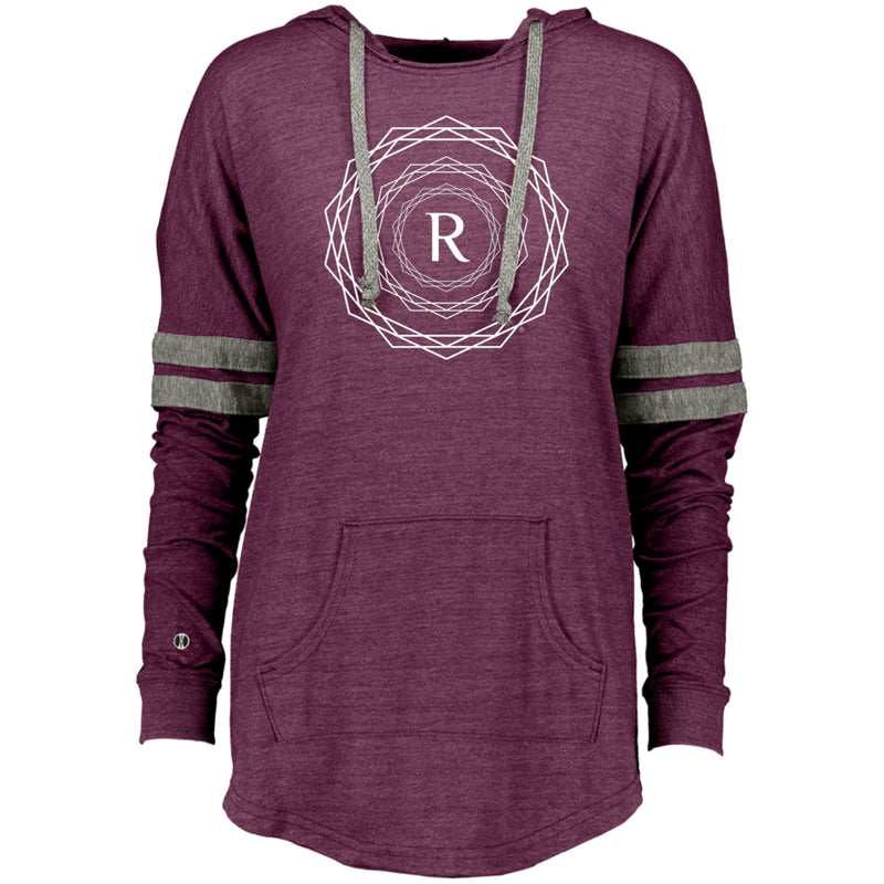 Product name: Recursia® Brand Series Women's Hooded Low Key Pullover. Keywords: Athlesisure Wear, Brand, Clothing, Women's Clothing, Women's Hooded Low Key Pullover, Women's Tops