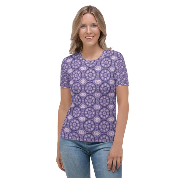 Product name: Recursia® Breckenridge High Series Women's Crew Neck T-Shirt. Keywords: Breckenridge High, Clothing, Women's Clothing, Women's Crew Neck T-Shirt, Women's Tops