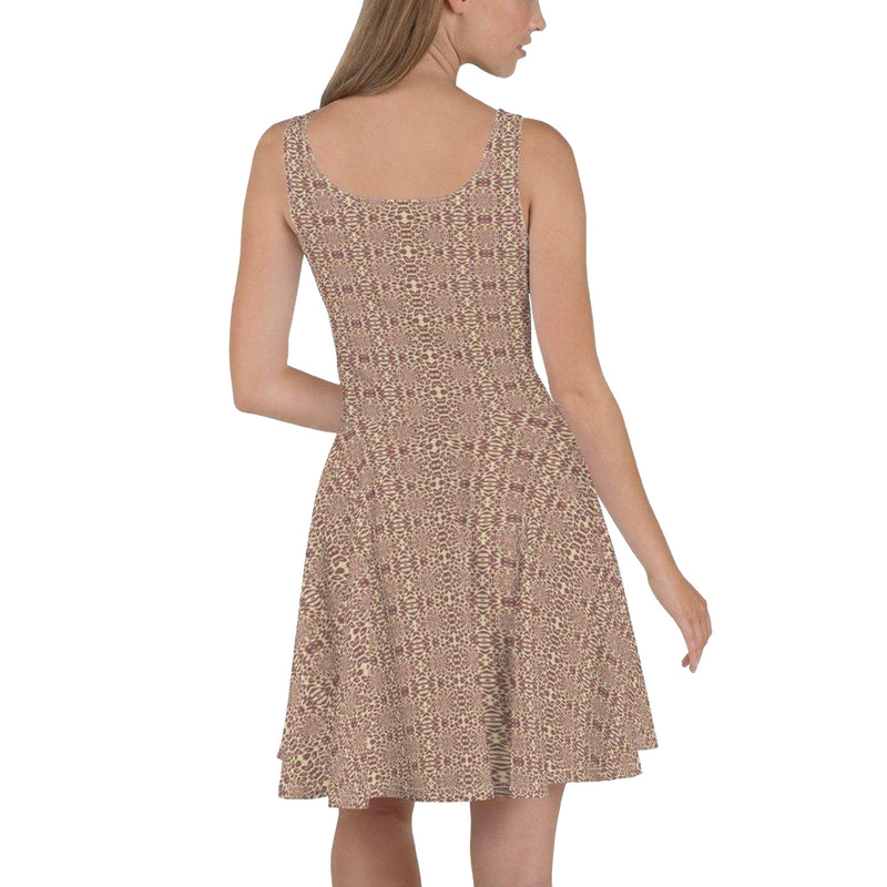 Product name: Recursia® Contemplative Jaguar Series I Skater Dress. Keywords: Clothing, Contemplative Jaguar, Skater Dress, Women's Clothing
