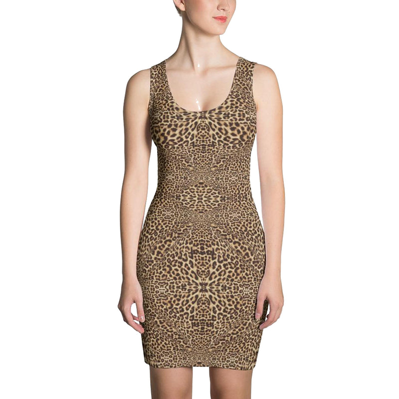 Product name: Recursia® Contemplative Jaguar Series Pencil Dress. Keywords: Clothing, Contemplative Jaguar, Pencil Dress, Women's Clothing