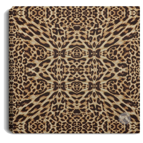 Product name: Recursia® Contemplative Jaguar Series Square Canvas Print .75in Frame. Keywords: Canvas Prints, Contemplative Jaguar, Home Decor, Square Canvas Print .75in Frame