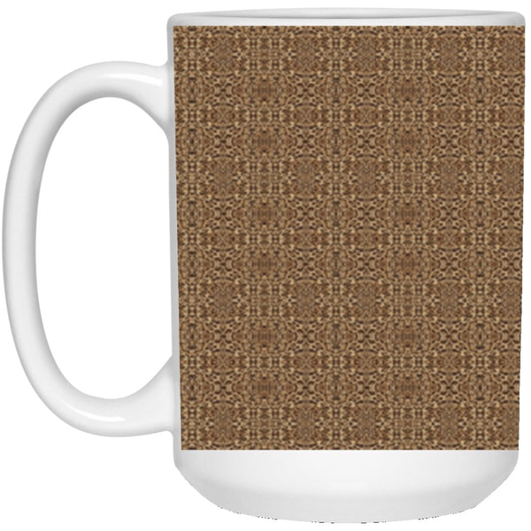 Product name: Recursia® Contemplative Jaguar Series VI 15 Oz. Large Mug. Keywords: 15 Oz. Large Mug, Contemplative Jaguar, Drinkware