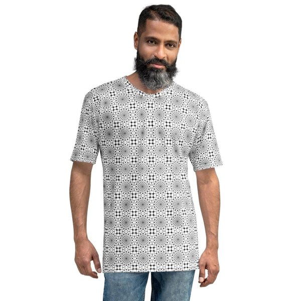 Product name: Recursia® Illusion's Game Series I Men's Crew Neck T-Shirt. Keywords: Clothing, Illusion's Game, Men's Clothing, Men's Crew Neck T-Shirt, Men's Tops