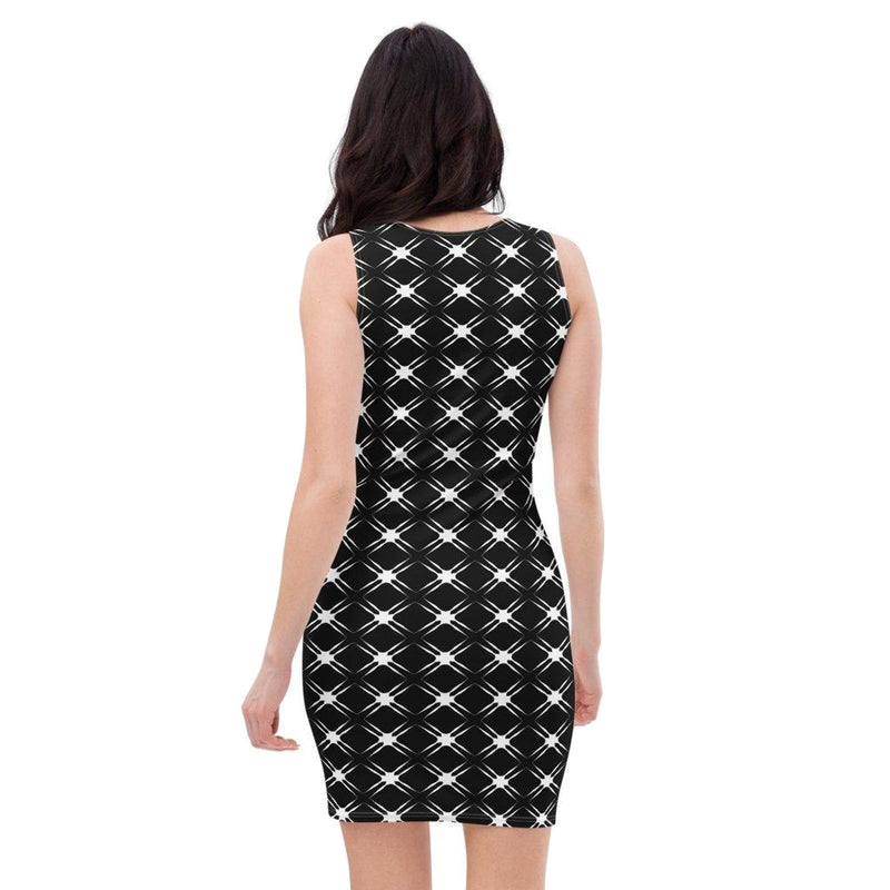 Product name: Recursia® Illusion's Game Series I Pencil Dress. Keywords: Clothing, Illusion's Game, Pencil Dress, Women's Clothing
