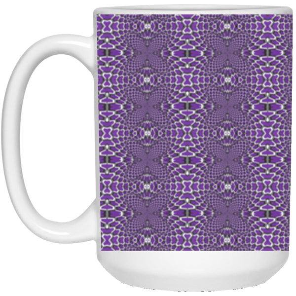 Product name: Recursia® Illusion's Game Series IV 15 Oz. Large Mug. Keywords: 15 Oz. Large Mug, Drinkware, Illusion's Game