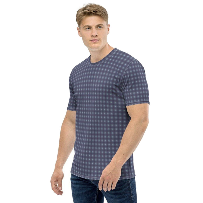 Product name: Recursia® Illusion's Game Series Men's Crew Neck T-Shirt. Keywords: Clothing, Illusion's Game, Men's Clothing, Men's Crew Neck T-Shirt, Men's Tops
