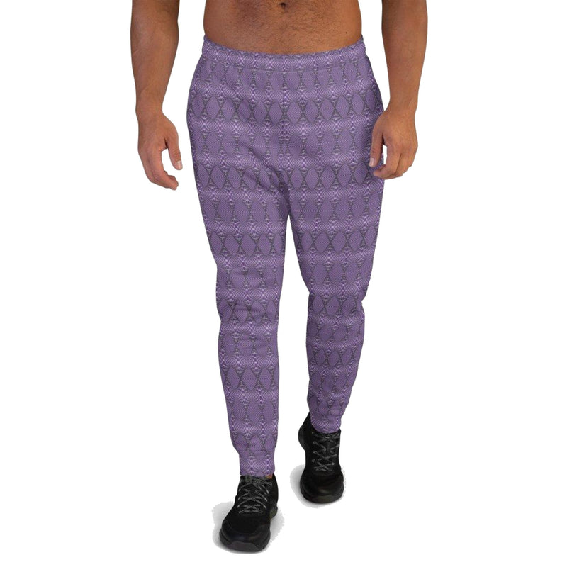 Product name: Recursia® Illusion's Game Series Men's Joggers. Keywords: Athlesisure Wear, Clothing, Illusion's Game, Men's Athlesisure, Men's Bottoms, Men's Clothing, Men's Joggers