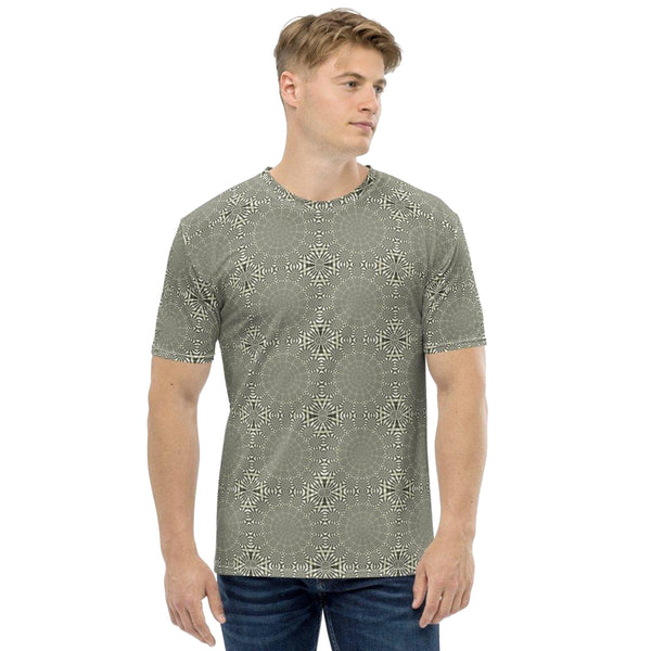 Product name: Recursia® Metargeta Series Men's Crew Neck T-Shirt. Keywords: Clothing, Men's Clothing, Men's Crew Neck T-Shirt, Men's Tops, Metargeta
