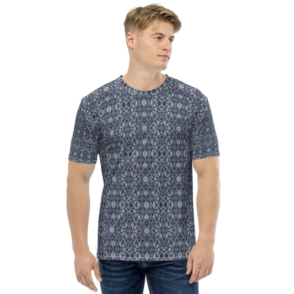 Product name: Recursia® Mind Gem Series I Men's Crew Neck T-Shirt. Keywords: Clothing, Men's Clothing, Men's Crew Neck T-Shirt, Men's Tops, Mind Gem