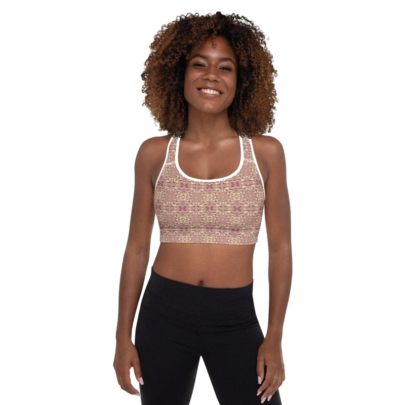 Product name: Recursia® Mind Gem Series III Padded Sports Bra. Keywords: Athlesisure Wear, Clothing, Mind Gem, Padded Sports Bra, Women's Clothing
