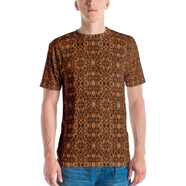 Product name: Recursia® Mind Gem Series Men's Crew Neck T-Shirt. Keywords: Clothing, Men's Clothing, Men's Crew Neck T-Shirt, Men's Tops, Mind Gem