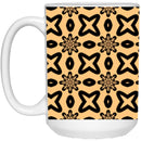 Product name: Recursia® Modern Moiré Series 15 Oz. Large Mug. Keywords: 15 Oz. Large Mug, Drinkware, Modern Moiré