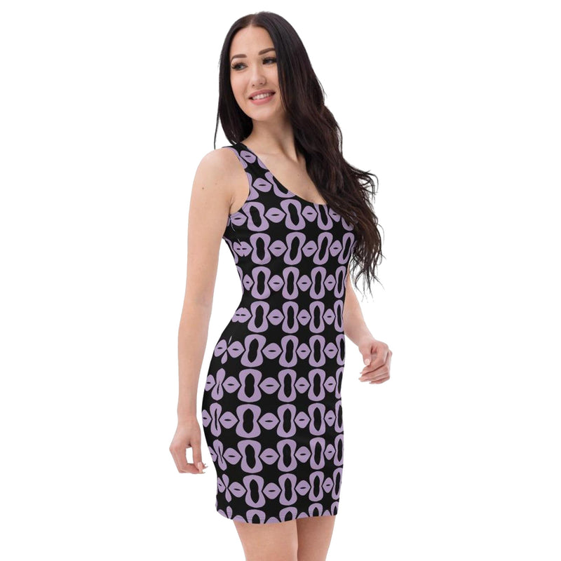 Product name: Recursia® Modern Moiré Series Pencil Dress. Keywords: Clothing, Modern Moiré, Pencil Dress, Women's Clothing