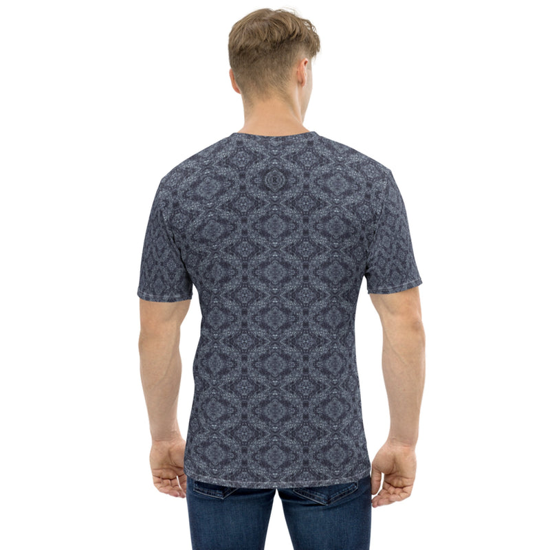 Product name: Recursia® Pebblewave Series I Men's Crew Neck T-Shirt. Keywords: Clothing, Men's Clothing, Men's Crew Neck T-Shirt, Men's Tops, Pebblewave