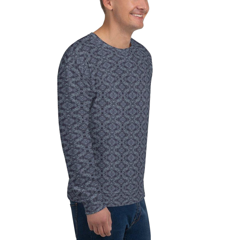 Product name: Recursia® Pebblewave Series Men's Sweatshirt. Keywords: Athlesisure Wear, Clothing, Men's Athlesisure, Men's Clothing, Men's Sweatshirt, Men's Tops, Pebblewave