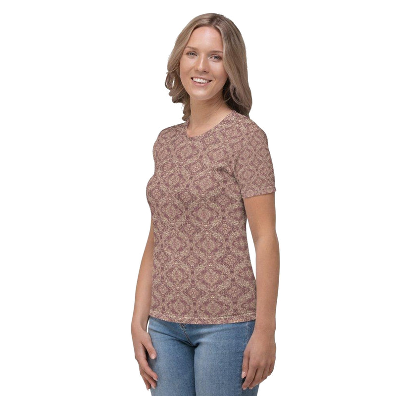Product name: Recursia® Pebblewave Series Women's Crew Neck T-Shirt. Keywords: Clothing, Pebblewave , Women's Clothing, Women's Crew Neck T-Shirt, Women's Tops
