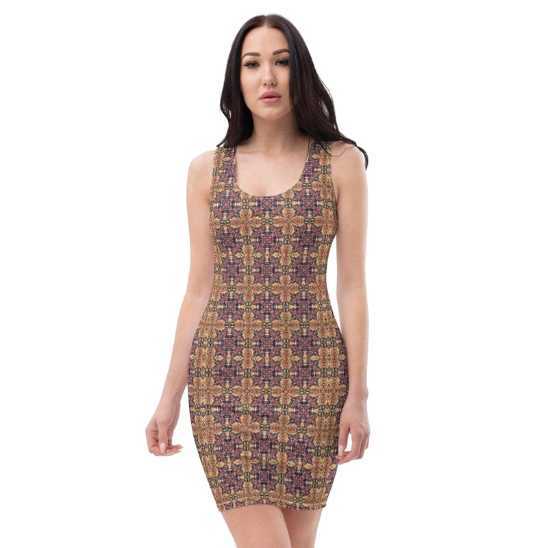 Product name: Recursia® Philosophy's Abode Series II Pencil Dress. Keywords: Clothing, Pencil Dress, Philosophy's Abode, Women's Clothing