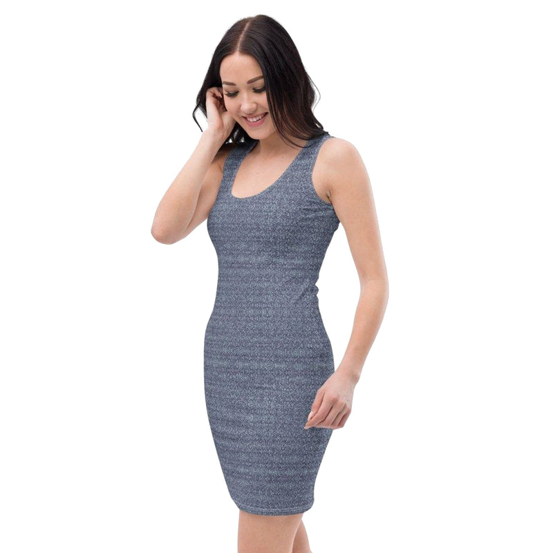 Product name: Recursia® Rainbow Rose Series I Pencil Dress. Keywords: Clothing, Pencil Dress, Rainbow Rose, Women's Clothing
