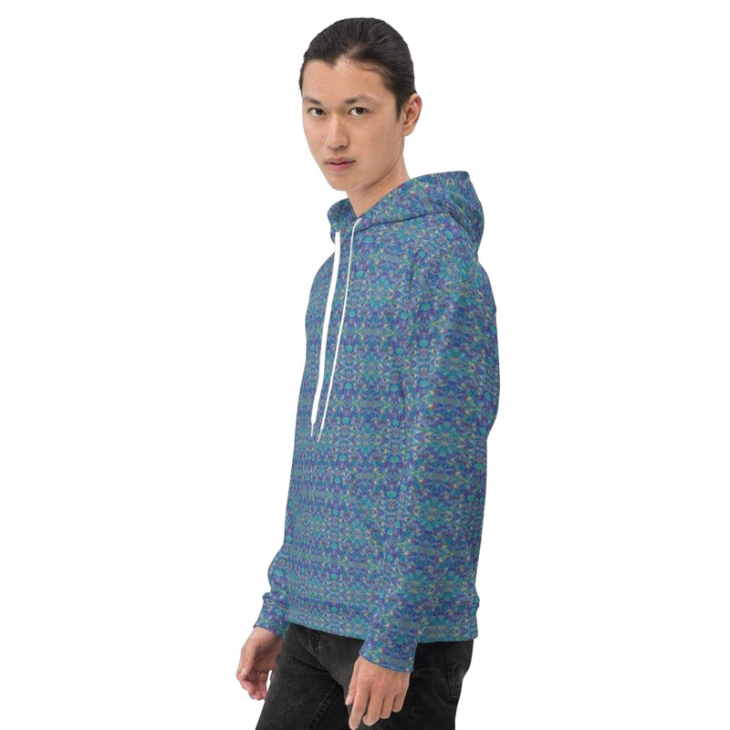 Product name: Recursia® Rainbow Rose Series Men's Hoodie. Keywords: Athlesisure Wear, Clothing, Men's Athlesisure, Men's Clothing, Men's Hoodie, Men's Tops, Rainbow Rose