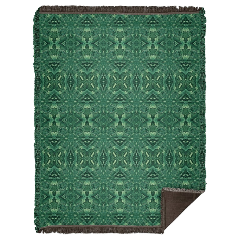 Product name: Recursia® Serpentine Dream Series II Woven Blanket 60x80. Keywords: Home Decor, Serpentine Dream, Woven Blanket 60x80, Woven Blankets