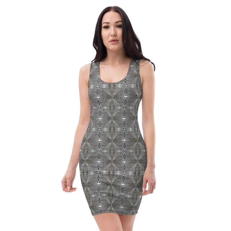 Product name: Recursia® Serpentine Dream Series Skater Dress. Keywords: Clothing, Serpentine Dream, Skater Dress, Women's Clothing