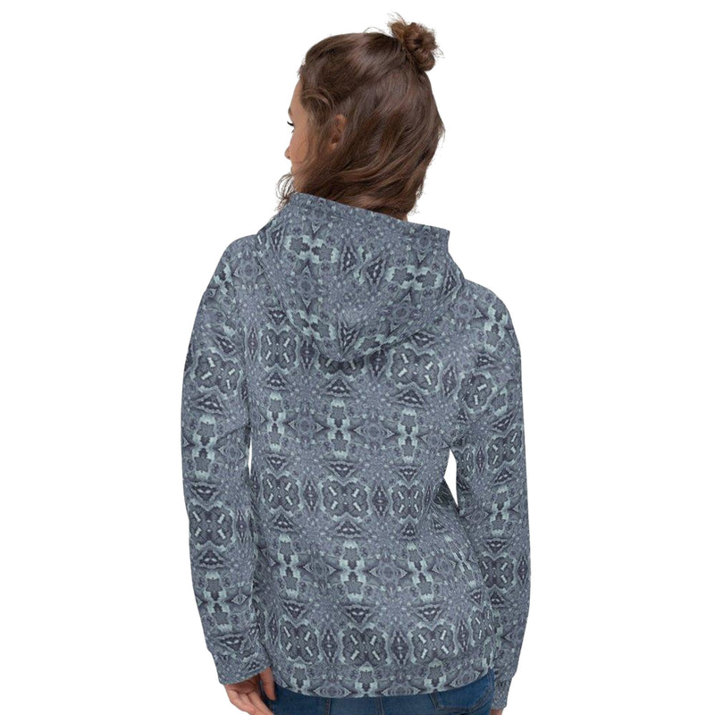 Product name: Recursia® Serpentine Dream Series V Women's Hoodie. Keywords: Athlesisure Wear, Clothing, Serpentine Dream, Women's Hoodie, Women's Tops
