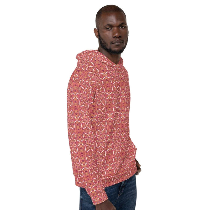 Product name: Recursia® Sunset Lotuslight Series Men's Hoodie. Keywords: Athlesisure Wear, Clothing, Lotuslight, Men's Athlesisure, Men's Clothing, Men's Hoodie, Men's Tops
