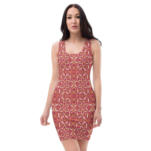 Recursia® Sunset Lotuslight Series Pencil Dress - Recursia®