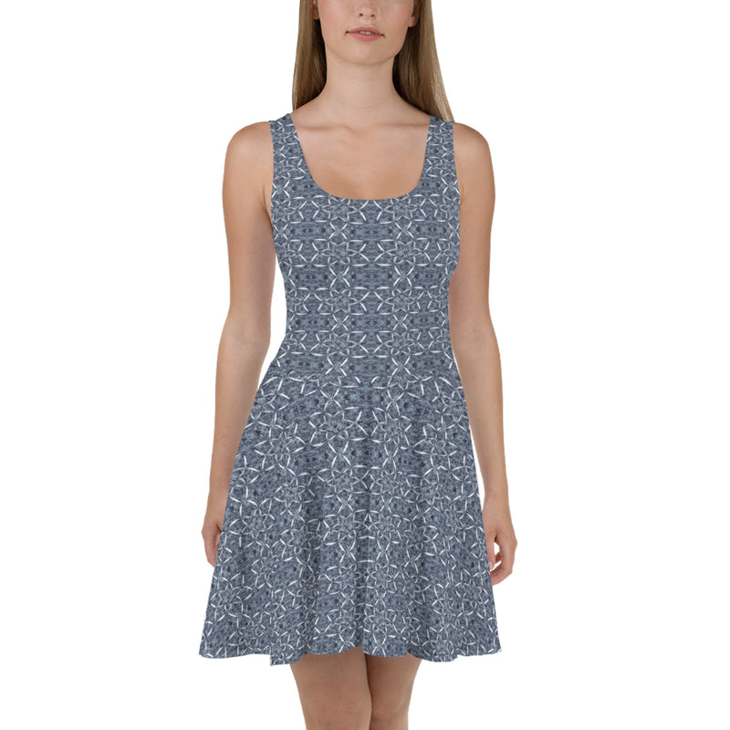 Product name: Recursia® Sunset Lotuslight Series Skater Dress. Keywords: Clothing, Lotuslight, Skater Dress, Women's Clothing