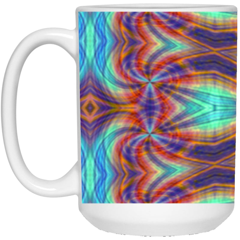 Product name: Recursia® Tie-Dye Overdrive Series 15 Oz. Large Mug. Keywords: 15 Oz. Large Mug, Drinkware, Tie-Dye Overdrive