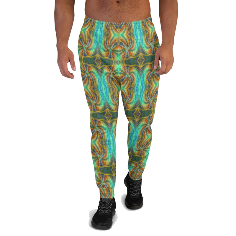 Product name: Recursia® Tie-Dye Overdrive Series Men's Joggers. Keywords: Athlesisure Wear, Clothing, Men's Athlesisure, Men's Bottoms, Men's Clothing, Men's Joggers, Tie-Dye Overdrive