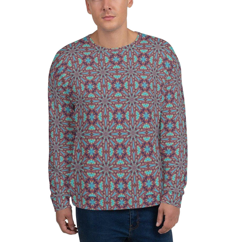 Product name: Recursia® Tie-Dye Overdrive Series Men's Sweatshirt. Keywords: Athlesisure Wear, Clothing, Men's Athlesisure, Men's Clothing, Men's Sweatshirt, Men's Tops, Tie-Dye Overdrive