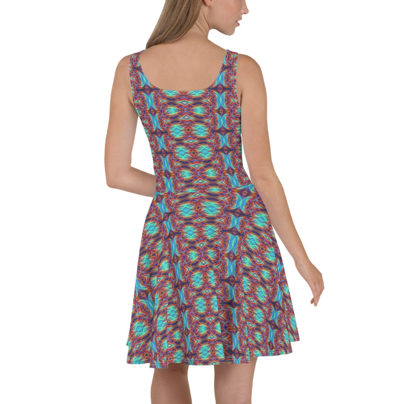 Product name: Recursia® Tie-Dye Overdrive Series Skater Dress. Keywords: Clothing, Skater Dress, Tie-Dye Overdrive, Women's Clothing
