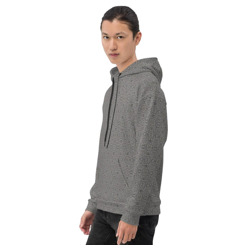 Product name: Recursia® Zebrallusions Series I Men's Hoodie. Keywords: Athlesisure Wear, Clothing, Men's Athlesisure, Men's Clothing, Men's Hoodie, Men's Tops, Zebrallusions