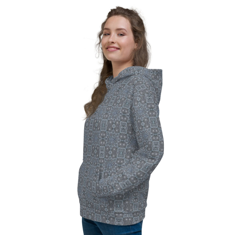 Product name: Recursia® Zebrallusions Series II Women's Hoodie. Keywords: Athlesisure Wear, Clothing, Women's Hoodie, Women's Tops, Zebrallusions