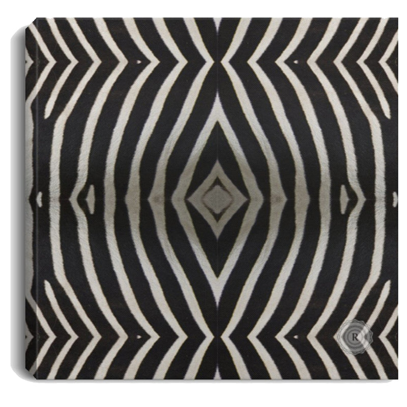 Product name: Recursia® Zebrallusions Series III Square Canvas Print .75in Frame. Keywords: Canvas Prints, Home Decor, Square Canvas Print .75in Frame, Zebrallusions