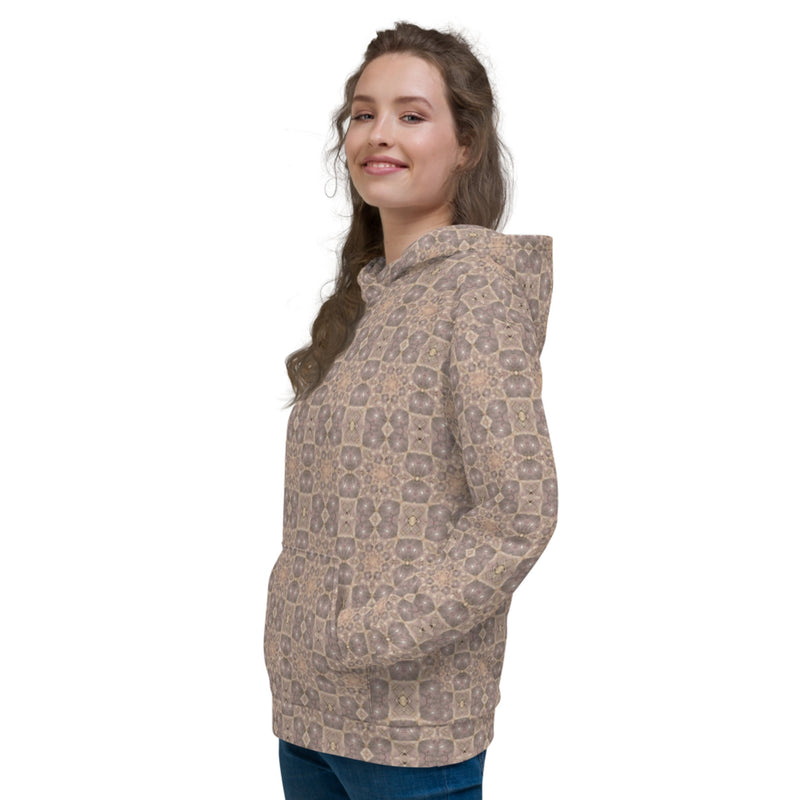 Product name: Recursia® Zebrallusions Series IV Women's Hoodie. Keywords: Athlesisure Wear, Clothing, Women's Hoodie, Women's Tops, Zebrallusions