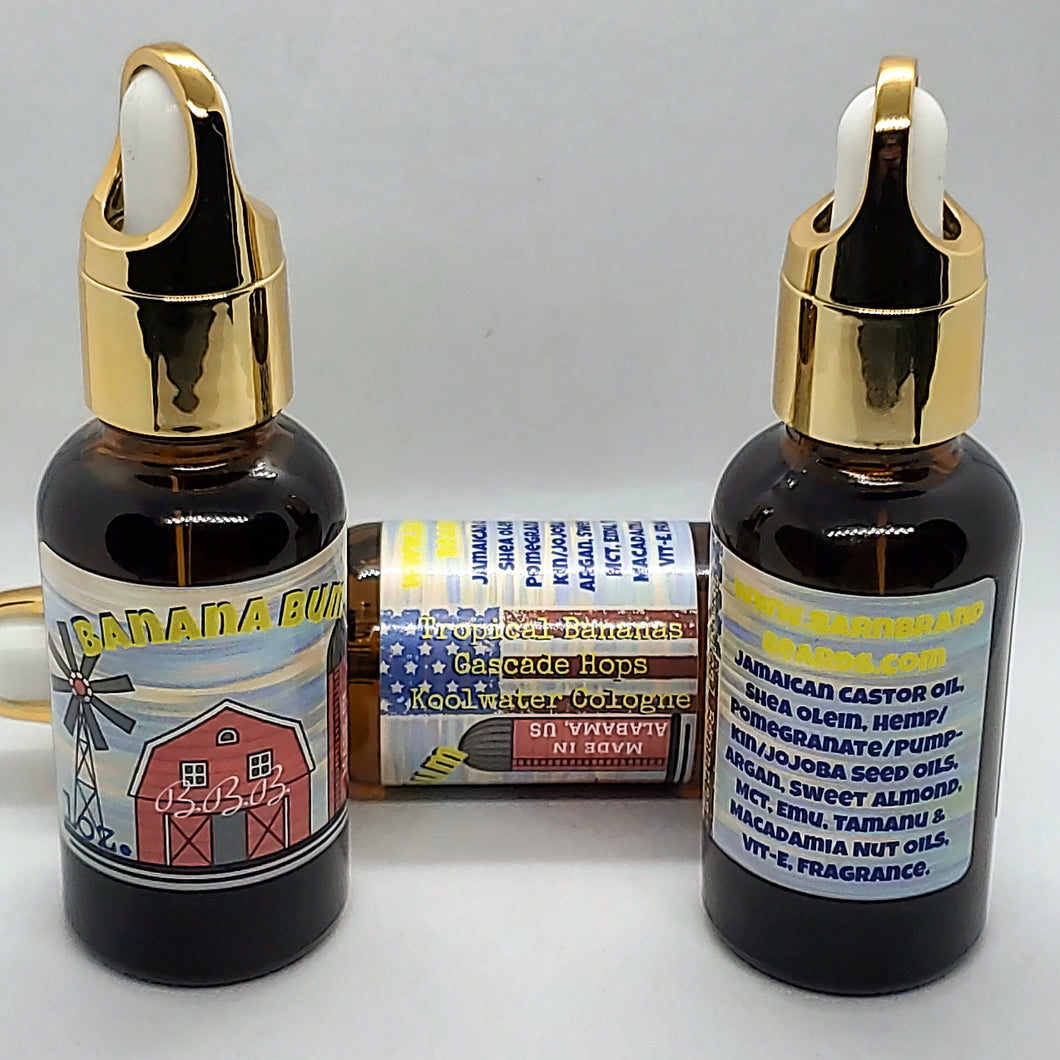Banana Bum (Hops-infused) beardoil -1oz