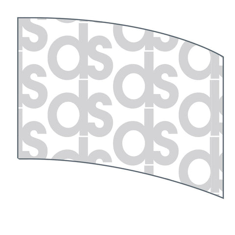 Custom Digital Print Curved Rectangle Flag