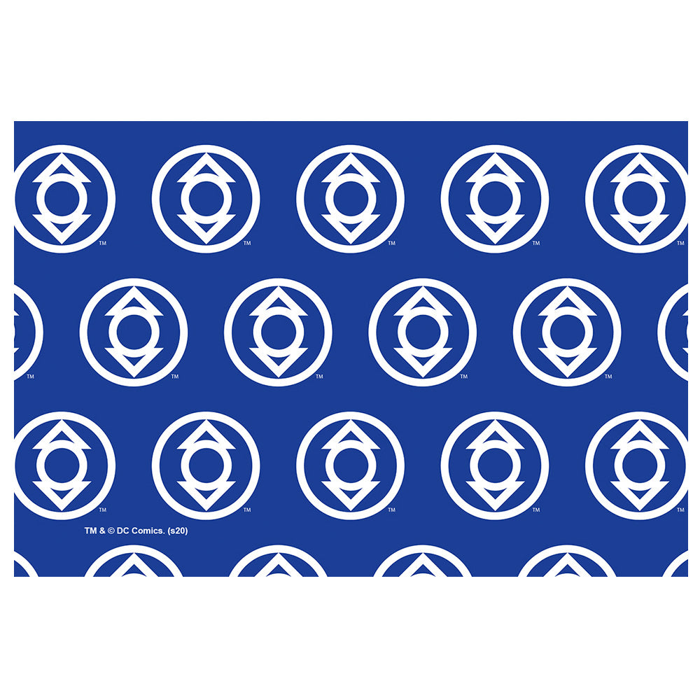 Green Lantern Blackest Night Indigo Lantern Logo Pattern