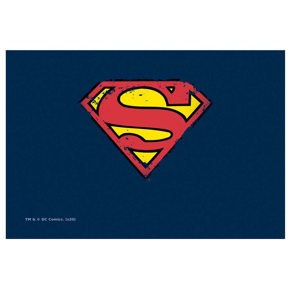 Superman Distressed Shield Logo