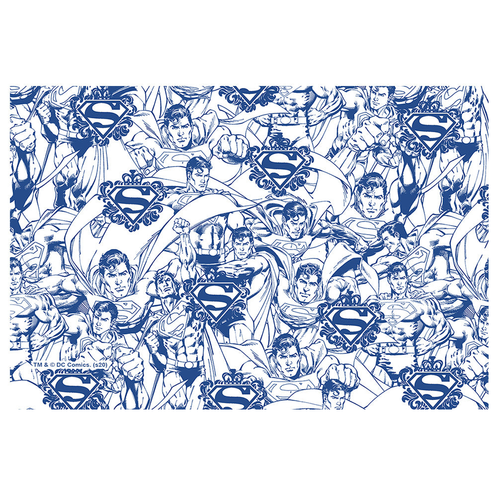 Superman Line Art Character Pattern