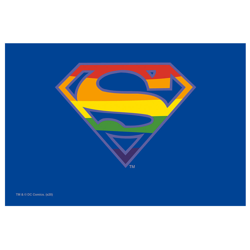 Superman Rainbow Shield Logo Pattern